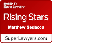 Rated by Super Lawyers - Rising Stars - Matthew Sedecca